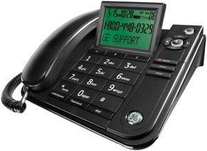 General Electric Corded Phone with Caller ID and Speakerphone (Black), 29585FE1