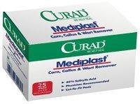 "CUR01496 Pad Mediplast Cut-To-Fit Latex Salicylic Acid 40% 2x3"" 25/Bx by Medline Industries Inc by Medline Curad Mediplast"