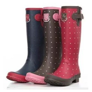 Sherwood Forest Ladies Buttermere Polka Dot Wellington Boots