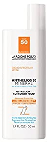 La Roche-Posay Anthelios 50 Mineral Ultra Light Sunscreen Fluid for Face, Water Resistant with SPF 50
