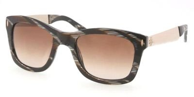 Tory Burch Tory Burch TY7042 Sunglasses - 706/13 Black Horn (Brown Gradient Lens) - 52mm