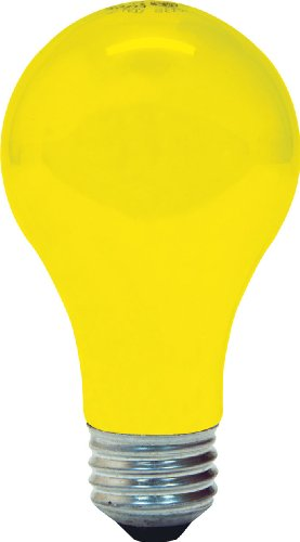 GE 97495 Bug Lite A19 Bulb, 60-Watt, 2-Pack