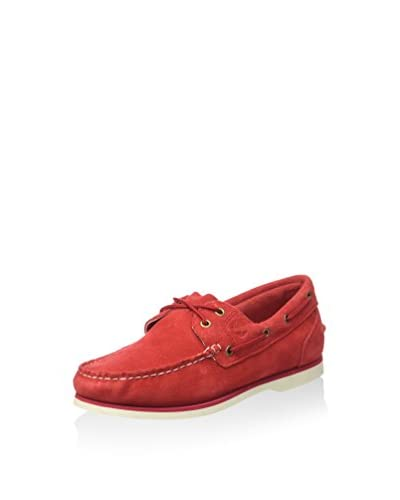 Timberland Scarpa Boat Shoe Classic Haute Red  [Red]
