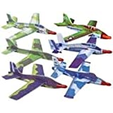 12 Jet Fighter Gliders Military Airplanes Planes -each is individually packaged