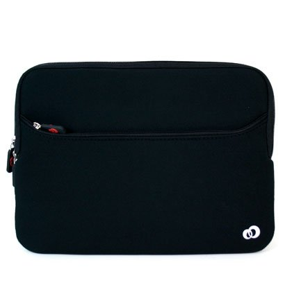 Samsung 10.1 inch netbook Samsung N145-JP02 Resentful Sleeve Case with Black zipper receptacle outside for accessories