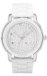 DKNY 3-Hand Pave Crystal Dial Women's watch #NY8606