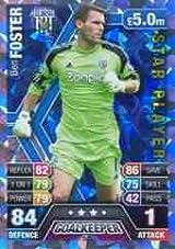 Match Attax 2013/2014 Ben Foster West Brom Star Player 13/14
