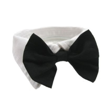 EOM Selected Adjustable Dog Bow Tie Puppy Pet Costume Collar Stripe Bow Tie Dogs Cats Puppy Tie Neck Tie - Perfect for Wedding Tie Party Accessories (Formal Collar Bowtie-black)