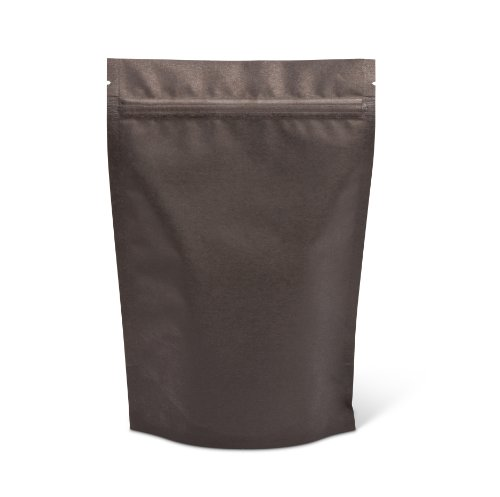 Pacific Bag 430-311B Stand-Up Pouch, 8 oz, Black Rice Paper with Zipper (Case of 500) (Rice Paper Pouches compare prices)