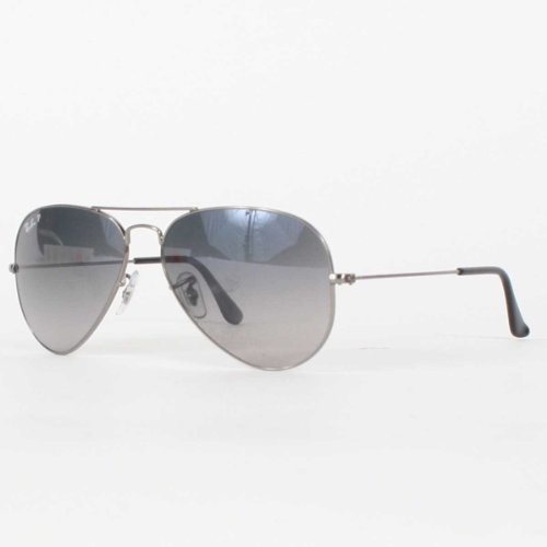 867e6a3e9f Ray Ban Rb3025 Aviator Sunglasses Gunmetal Frame Crystal Gray Gr ...