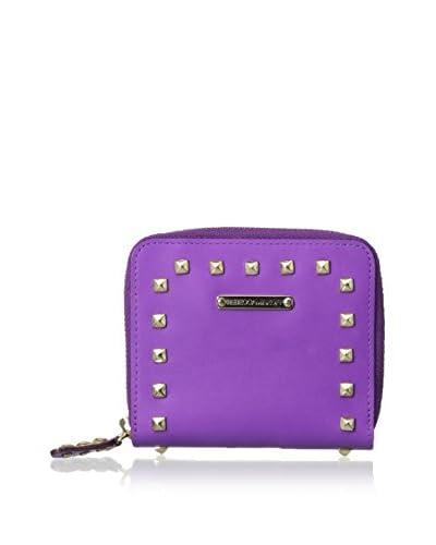 Rebecca Minkoff Women's Sylvie Small Zip Wallet With Studs, Purple