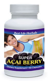 Super Acai Berry Dietary Supplement 30 Capsules Prized For Its Uncanny Ability To Melt Away Unwanted Fat And Bolster Optimum Cardiovascular Health