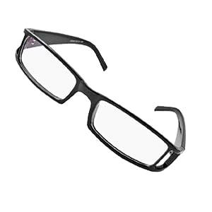 Black Frame Glasses Non Prescription : Amazon.com : Lightweight Black Frame Clear Lens Plano ...