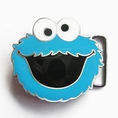 Sesame Street Cookie Monster Mens Blue Fibbie per Cinture