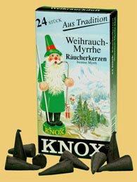 Knox German Incense Cones Christmas Myrrh Scent by PINNACLE PEAK