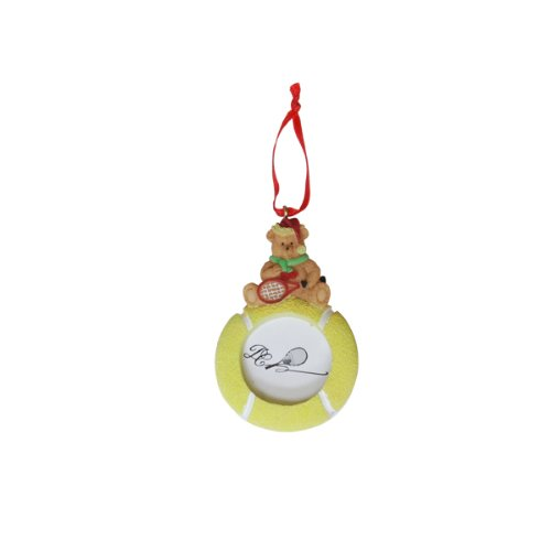 Tennis Bear Picture Frame Ornament