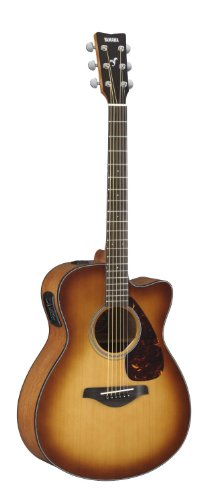 Yamaha Fx Series Fsx700Sc Bs Small Body Cutaway Acoustic Electric Guitar; Brown Sunburst