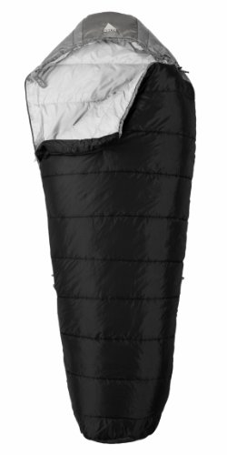 Kelty Cosmic 35 Degree Synthetic Sleeping Bag, Extra Long, Solid Black