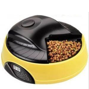 4 Meals Tray Automatic Pet Dog Cat Feeder Programmable Portion Control Dog Cat Feeder w/ LCD Display