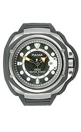 Pulsar Tech Gear Black Carbon Fiber Dial Men's watch #PXH711