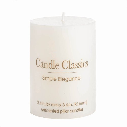 Unscented White 4-inch Pillar Candle
