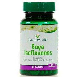(10er BUNDLE) | Naturen Beihilfe Soja-Isoflavone - 50mg nicht-GV (Spr Genistein Daidzein & Glycitein) 90 Tabletten | 90 tablet - Natures Aid