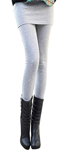 Am Clothes Womens Autumn Winter Womens Sexy Basic Stretch Mini Skirt Leggings front-754790