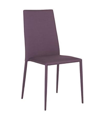 Eurostyle Chessa Side Chair, Purple