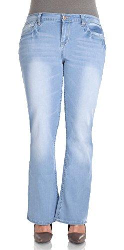 WallFlower Juniors Plus Size Short Inseam Basic Legendary Bootcut Jeans in Blake Size: 20