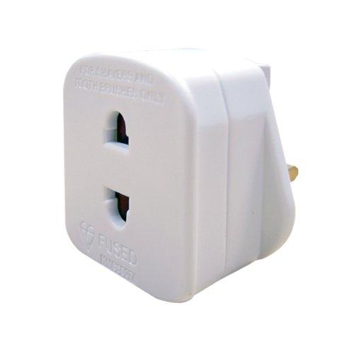 Masterplug Indoor Power SHADC-MP Shaver Adaptor Fused (White)