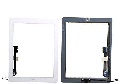Mimi weiß Touch Screen Digitizer, für Apple iPad 4Modell A1458, A1459, A1460+ Homebutton + Kamera Rahmen + Klebeband