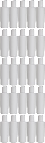 Earth'S Essentials Twenty-Five Pack Of Refillable 4 Oz. Squeeze Bottles With One Hand Press Cap Dispenser Tops. Great For Dispensing Lotions, Shampoos And Massage Oils.