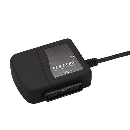 ELECOM ゲームパッドコンバータ USB接続 プレステ/プレステ2コントローラ対応 1ポート JC-PS101UBK