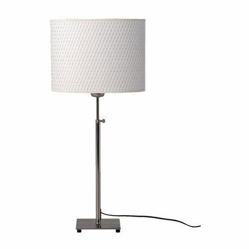 Ikea 500.291.62 Alang Nickel Plated Table Lamp, White Ikea Along Table Lamp With White Shade! Light Bulbs Are Sold Separately. Ikea Recommends Ledare Led Bulb E26 400 Lumen Product Description: Base Plate/Stem: Steel, Nickel Plated, Shade: Polystyrene, Pa