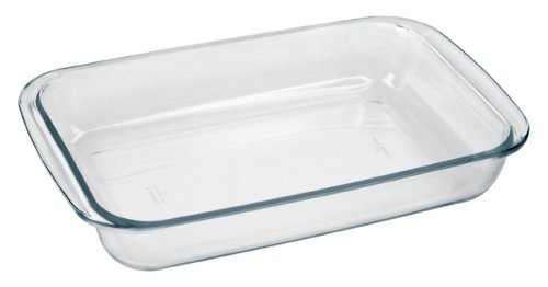 "Marinex Bakeware Small Rectangular Glass Roaster, 11-5/8"" x 7"" x 2"""