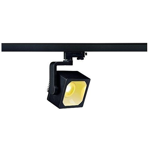 SLV LED 3-Phasen Strahler Euro Cube, 28,5W, 3000 K, 90 Grad, inklusiv Adapter, schwarz 152760
