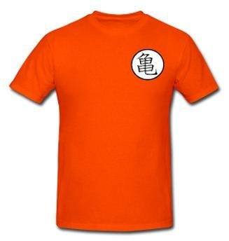 Dragon Ball Z Goku Logo Orange Adult T Shirt (S)