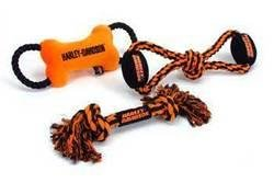TopDawg Pet Supply C Harley Davidson Plush Toy - bone Rope Tug