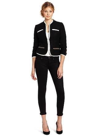 D.E.P.T. Women's Dandy Boucle Blazer, Black, X-Large