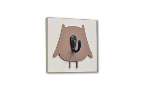 Homeworks Etc Owl Single Wall Hook, Brown front-243817