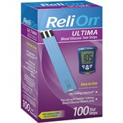 Reli On Ultima Blood Glucose Test Strips 100 Test Strips