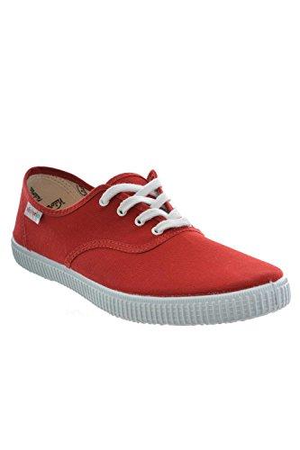 Modalità 6613-Scarpe da ginnastica victoria, da donna, colore: rosso carminio, Rosso (rosso), 43