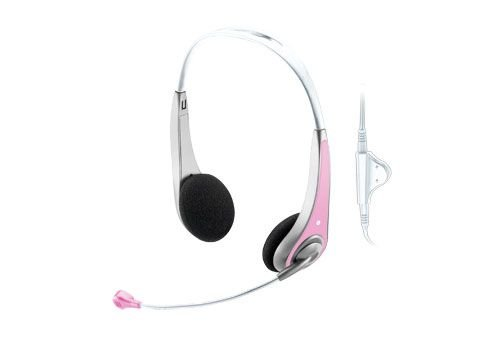 Trust InSonic Chat Headset pink
