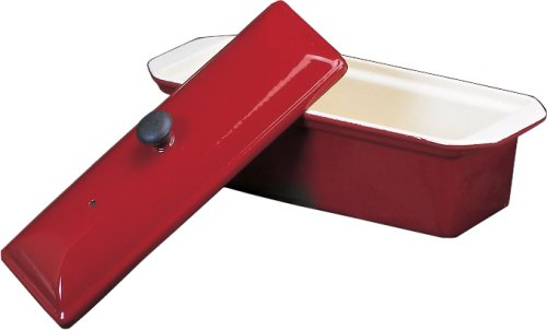Chasseur Enameled Cast-Iron Pate Terrine Mold, Red