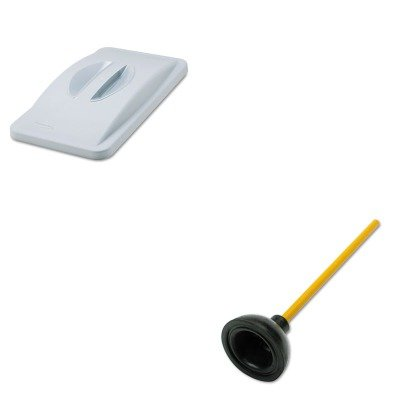 KITRCP268888GYUNS03008 - Value Kit - Rubbermaid Slim Jim Handle Top (RCP268888GY) and Unisan Plunger for Drains or Toilets (UNS03008) kitaapbr181gycox01761ea value kit best hospitality wall cabinet aapbr181gy and clorox disinfecting wipes cox01761ea