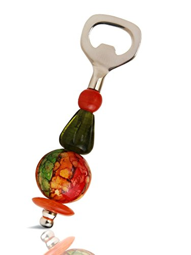 Christmas Gifts Artistic Glass Beaded Bottle Opener (6 X 2 Inches), Barware Or Kitchen Accessory front-390318