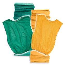 Adult Scrimmage Vest 50 Pack Grn Yel (PAC) by SSG