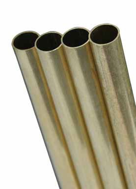 "Round Brass Tube 3/32"", Carded, 3 Each"