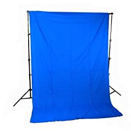 CowboyStudio 6 X 9ft Chromakey Blue Muslin Backdrop with Support System and Carry Bag