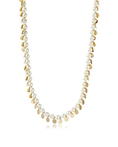 Cohesive Jewels Simulated Pearl & Disc Long Necklace